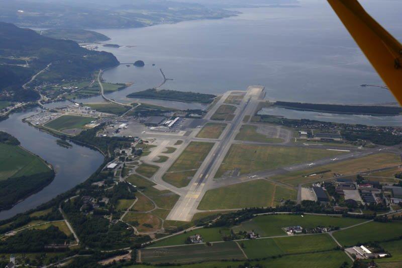 Nordens största flygplatser - Værnes flygplats Trondheim, Norge